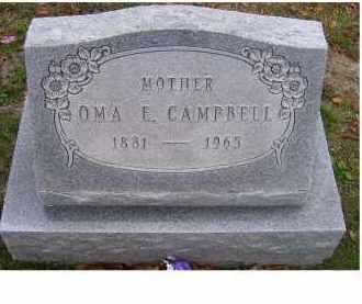 CAMPBELL, OMA E. - Adams County, Ohio | OMA E. CAMPBELL - Ohio Gravestone Photos