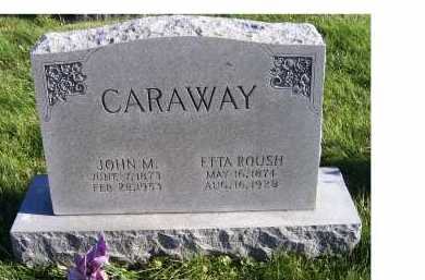 ROUSH CARAWAY, ETTA - Adams County, Ohio | ETTA ROUSH CARAWAY - Ohio Gravestone Photos