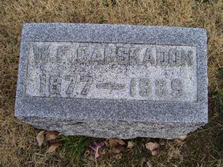 CARSKADON, W. F. - Adams County, Ohio | W. F. CARSKADON - Ohio Gravestone Photos