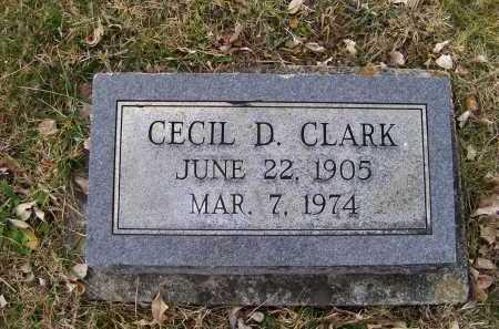 CLARK, CECIL D. - Adams County, Ohio | CECIL D. CLARK - Ohio Gravestone Photos