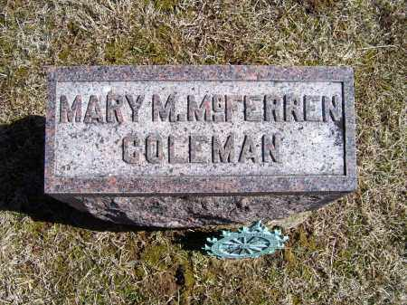 MCFERREN COLEMAN, MARY M. - Adams County, Ohio | MARY M. MCFERREN COLEMAN - Ohio Gravestone Photos