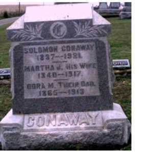 CONAWAY, MARTHA J. - Adams County, Ohio | MARTHA J. CONAWAY - Ohio Gravestone Photos