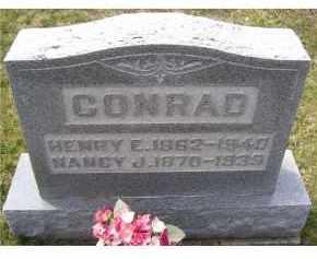 CONRAD, HENRY E. - Adams County, Ohio | HENRY E. CONRAD - Ohio Gravestone Photos