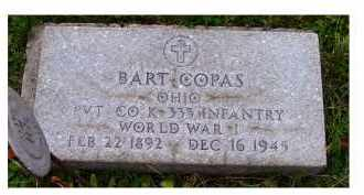 COPAS, BART - Adams County, Ohio | BART COPAS - Ohio Gravestone Photos