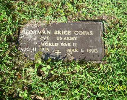COPAS, FORMAN BRICE - Adams County, Ohio | FORMAN BRICE COPAS - Ohio Gravestone Photos