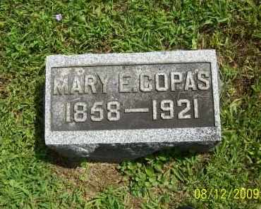COPAS, MARY E - Adams County, Ohio | MARY E COPAS - Ohio Gravestone Photos