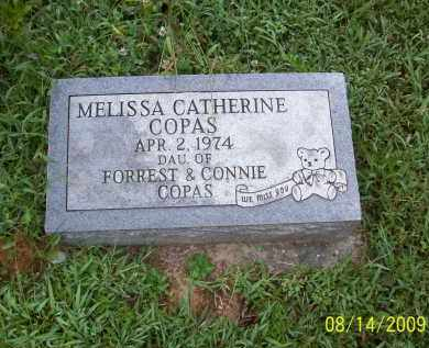 COPAS, MELISSA CATHERINE - Adams County, Ohio | MELISSA CATHERINE COPAS - Ohio Gravestone Photos