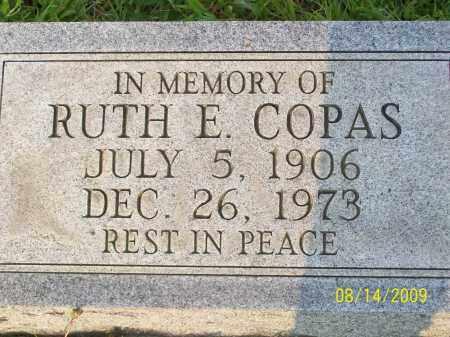 COPAS, RUTH E - Adams County, Ohio | RUTH E COPAS - Ohio Gravestone Photos