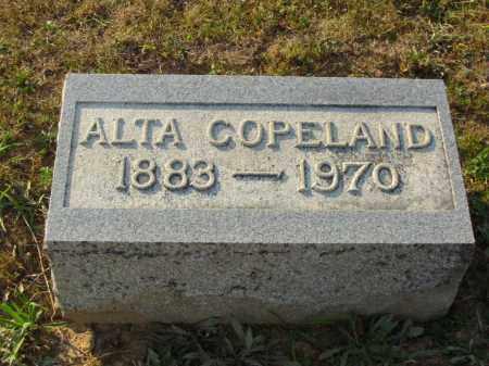 COPELAND, ALTA - Adams County, Ohio | ALTA COPELAND - Ohio Gravestone Photos