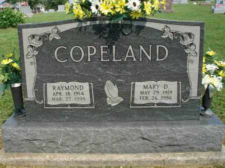 COPELAND, MARY D - Adams County, Ohio | MARY D COPELAND - Ohio Gravestone Photos