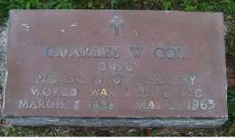 COX, CHARLES W. - Adams County, Ohio | CHARLES W. COX - Ohio Gravestone Photos