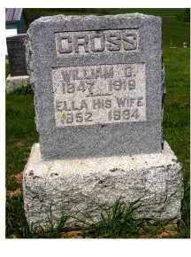 CROSS, WILLIAM G. - Adams County, Ohio | WILLIAM G. CROSS - Ohio Gravestone Photos