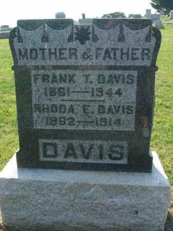 DAVIS, RHODA E - Adams County, Ohio | RHODA E DAVIS - Ohio Gravestone Photos