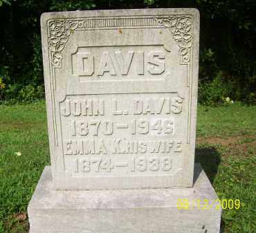 DAVIS, EMMA K - Adams County, Ohio | EMMA K DAVIS - Ohio Gravestone Photos