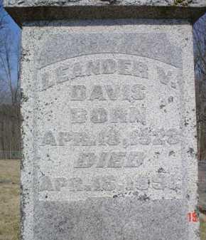DAVIS, LEANDER V. - Adams County, Ohio | LEANDER V. DAVIS - Ohio Gravestone Photos