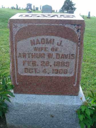 DAVIS, NAOMI J - Adams County, Ohio | NAOMI J DAVIS - Ohio Gravestone Photos
