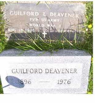 DEAVENER, GUILFORD L. - Adams County, Ohio | GUILFORD L. DEAVENER - Ohio Gravestone Photos