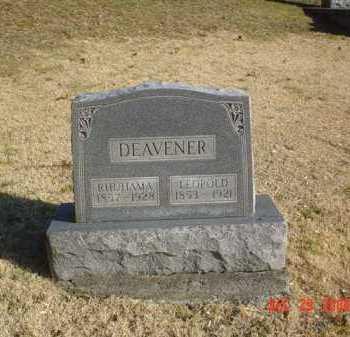 DEAVENER, LEOPOLD - Adams County, Ohio | LEOPOLD DEAVENER - Ohio Gravestone Photos