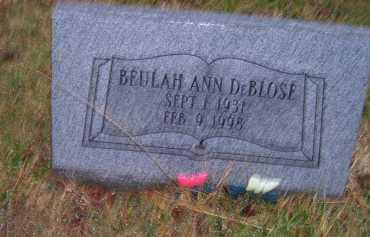 DEBLOSE, BEULAH ANN - Adams County, Ohio | BEULAH ANN DEBLOSE - Ohio Gravestone Photos