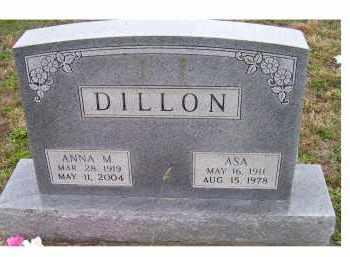 DILLON, ANNA M. - Adams County, Ohio | ANNA M. DILLON - Ohio Gravestone Photos