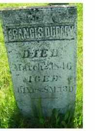 DUFFEY, FRANCIS - Adams County, Ohio   FRANCIS DUFFEY - Ohio Gravestone Photos