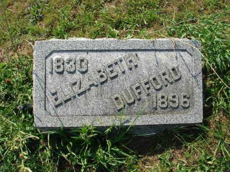 DUFFORD, ELIZABETH - Adams County, Ohio | ELIZABETH DUFFORD - Ohio Gravestone Photos