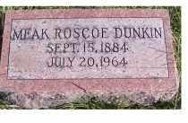DUNKIN, MEAK ROSCOE - Adams County, Ohio | MEAK ROSCOE DUNKIN - Ohio Gravestone Photos