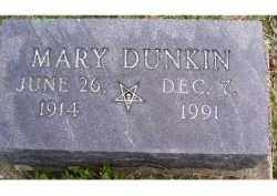 DUNKIN, MARY - Adams County, Ohio | MARY DUNKIN - Ohio Gravestone Photos