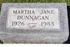 DUNNAGAN, MARTHA JANE - Adams County, Ohio | MARTHA JANE DUNNAGAN - Ohio Gravestone Photos