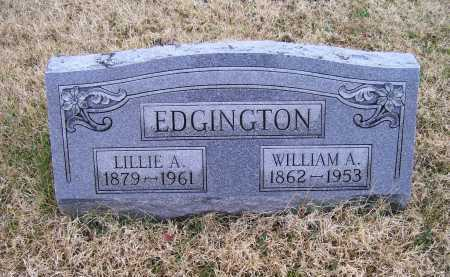 EDGINGTON, WILLIAM A. - Adams County, Ohio | WILLIAM A. EDGINGTON - Ohio Gravestone Photos