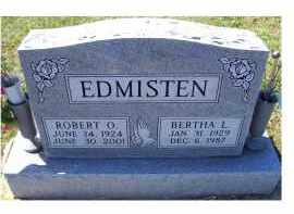 EDMISTEN, BERTHA L. - Adams County, Ohio | BERTHA L. EDMISTEN - Ohio Gravestone Photos
