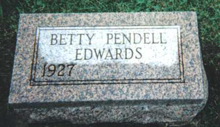 EDWARDS, BETTY PENDELL - Adams County, Ohio | BETTY PENDELL EDWARDS - Ohio Gravestone Photos