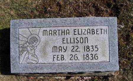 ELLISON, MARTHA ELIZABETH - Adams County, Ohio | MARTHA ELIZABETH ELLISON - Ohio Gravestone Photos