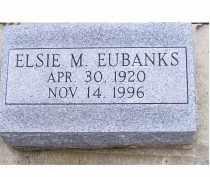 EUBANKS, ELSIE M. - Adams County, Ohio | ELSIE M. EUBANKS - Ohio Gravestone Photos