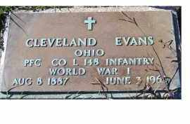 EVANS, CLEVELAND - Adams County, Ohio | CLEVELAND EVANS - Ohio Gravestone Photos