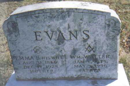 EVANS, WM. WALTER - Adams County, Ohio | WM. WALTER EVANS - Ohio Gravestone Photos