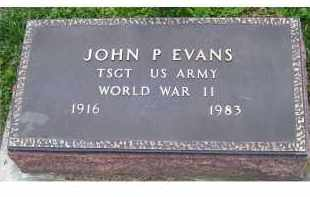 EVANS, JOHN P. - Adams County, Ohio | JOHN P. EVANS - Ohio Gravestone Photos