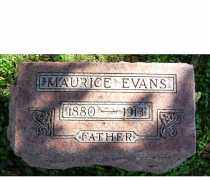 EVANS, MAURICE - Adams County, Ohio | MAURICE EVANS - Ohio Gravestone Photos