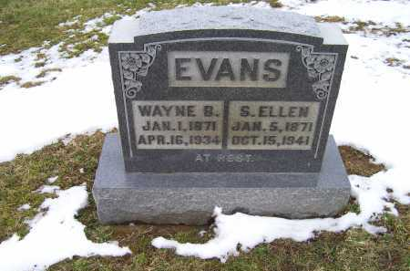 EVANS, WAYNE B. - Adams County, Ohio | WAYNE B. EVANS - Ohio Gravestone Photos