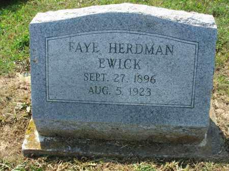 HERDMAN EWICK, FAYE - Adams County, Ohio | FAYE HERDMAN EWICK - Ohio Gravestone Photos
