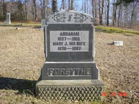 FORSYTHE, MARY J. - Adams County, Ohio | MARY J. FORSYTHE - Ohio Gravestone Photos