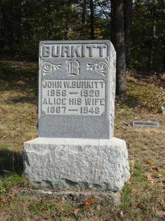 FORSYTHE BURKITT, MARY ALICE - Adams County, Ohio | MARY ALICE FORSYTHE BURKITT - Ohio Gravestone Photos