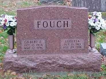FOUCH, GILBERT E. - Adams County, Ohio | GILBERT E. FOUCH - Ohio Gravestone Photos