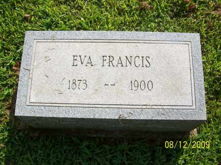FRANCIS, EVA - Adams County, Ohio | EVA FRANCIS - Ohio Gravestone Photos