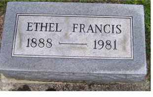 FRANCIS, ETHEL - Adams County, Ohio | ETHEL FRANCIS - Ohio Gravestone Photos