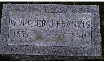 FRANCIS, WHEELER J. - Adams County, Ohio | WHEELER J. FRANCIS - Ohio Gravestone Photos