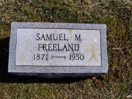 FREELAND, SAMUEL M. - Adams County, Ohio | SAMUEL M. FREELAND - Ohio Gravestone Photos