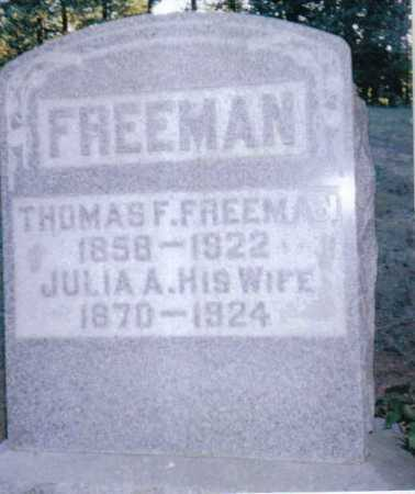 FREEMAN, JULIA - Adams County, Ohio | JULIA FREEMAN - Ohio Gravestone Photos