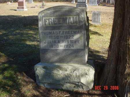 FREEMAN, JULIA A. - Adams County, Ohio | JULIA A. FREEMAN - Ohio Gravestone Photos