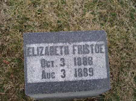 FRISTOE, ELIZABETH - Adams County, Ohio | ELIZABETH FRISTOE - Ohio Gravestone Photos